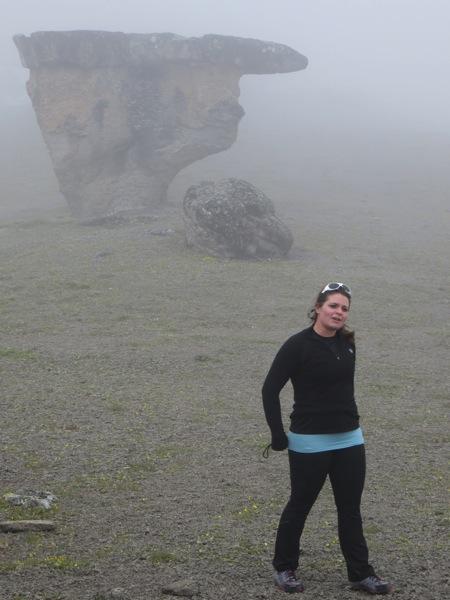 Emma and a mushroom rock